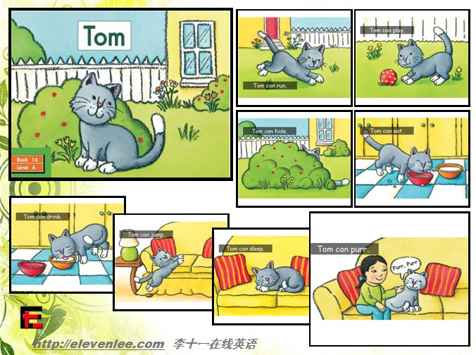 【e起听阅】我的【英语小绘本】0-16-小猫咪tom