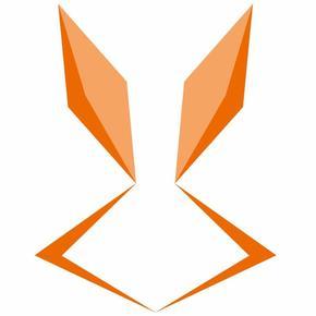 荷花兔展背景矢量图
