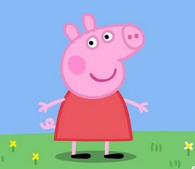 可爱小猪起床图片