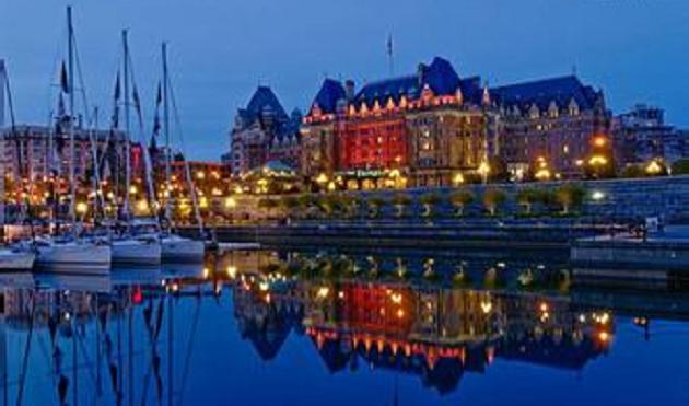 有欧式古典建筑的卑诗省议会大厦等
