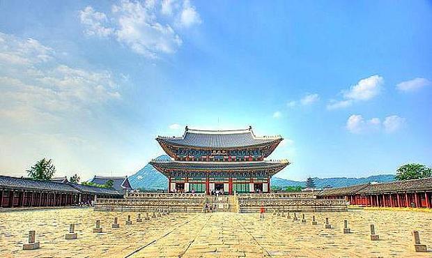 韩国地标建筑手绘