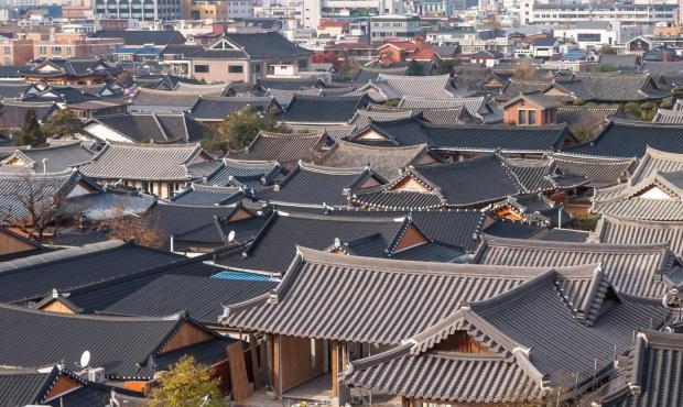 韩国宫殿火炕结构图