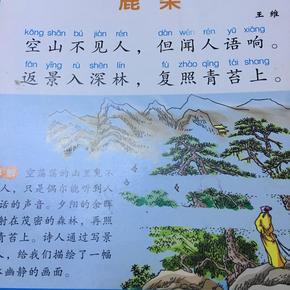鹿柴古诗图片儿童画