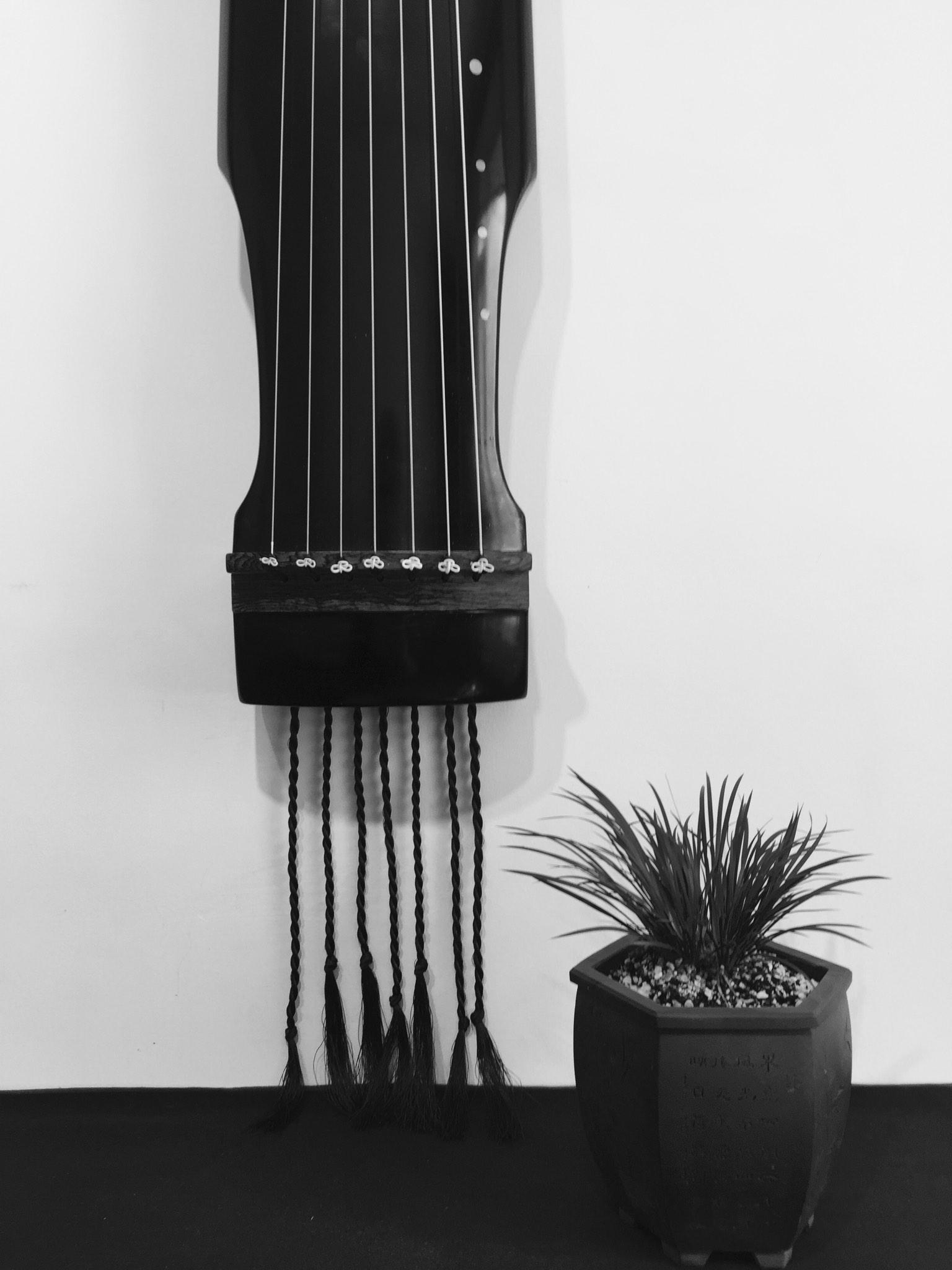 古琴背面结构图