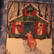 过冬的小木屋
