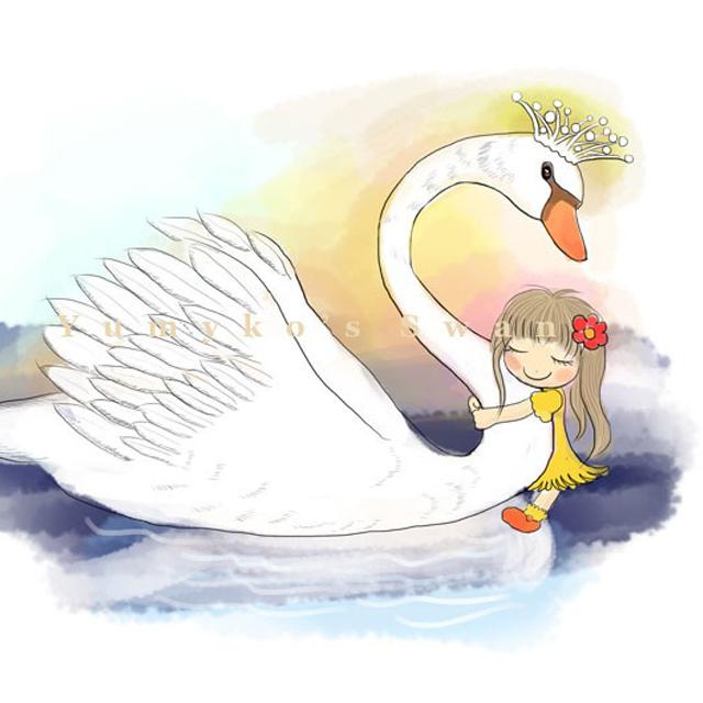 湖水漫画手绘图