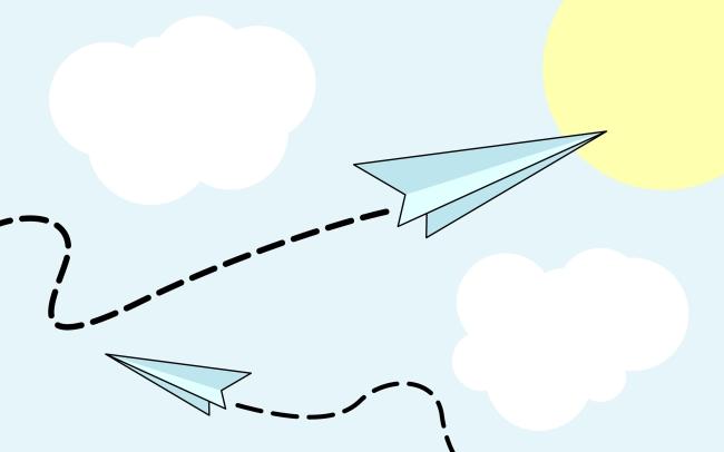 纸飞机卡通图片