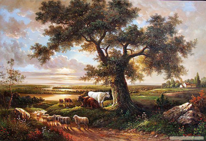 欧式古典风景油画
