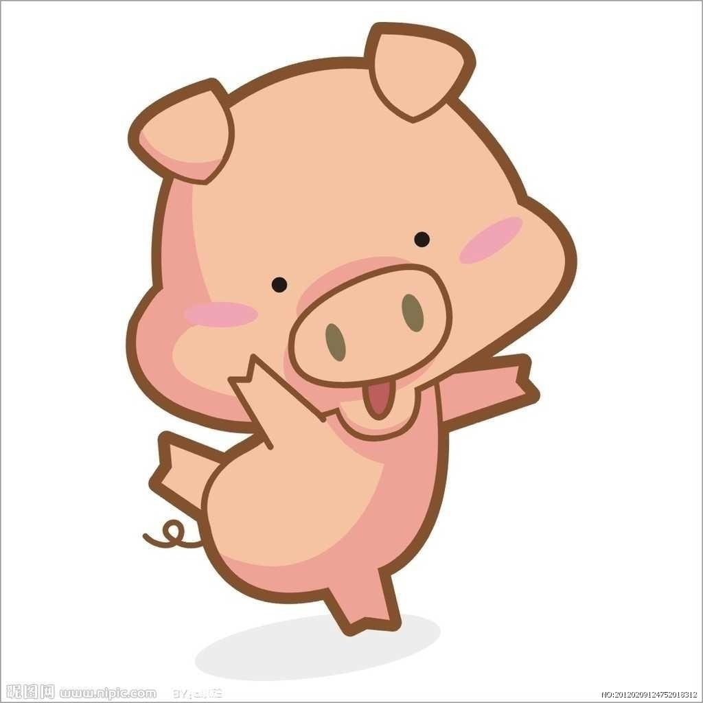 两个可爱的小猪