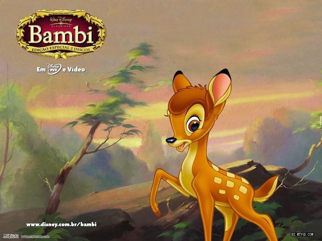 森林中生活首一群可爱的小生灵,他们是小鹿斑比,小白兔加纳