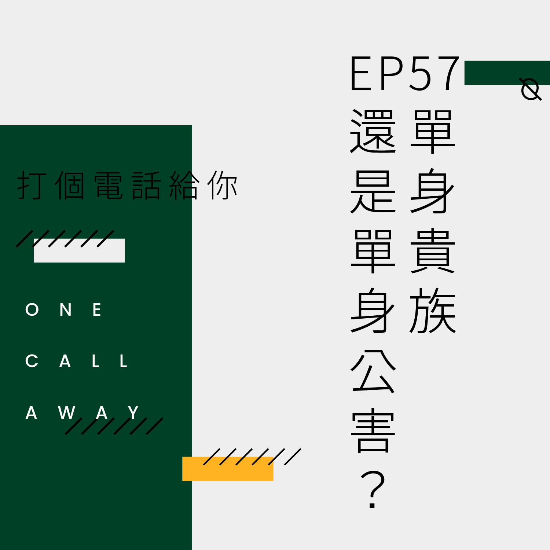 EP57 单身贵族还是单身公害?